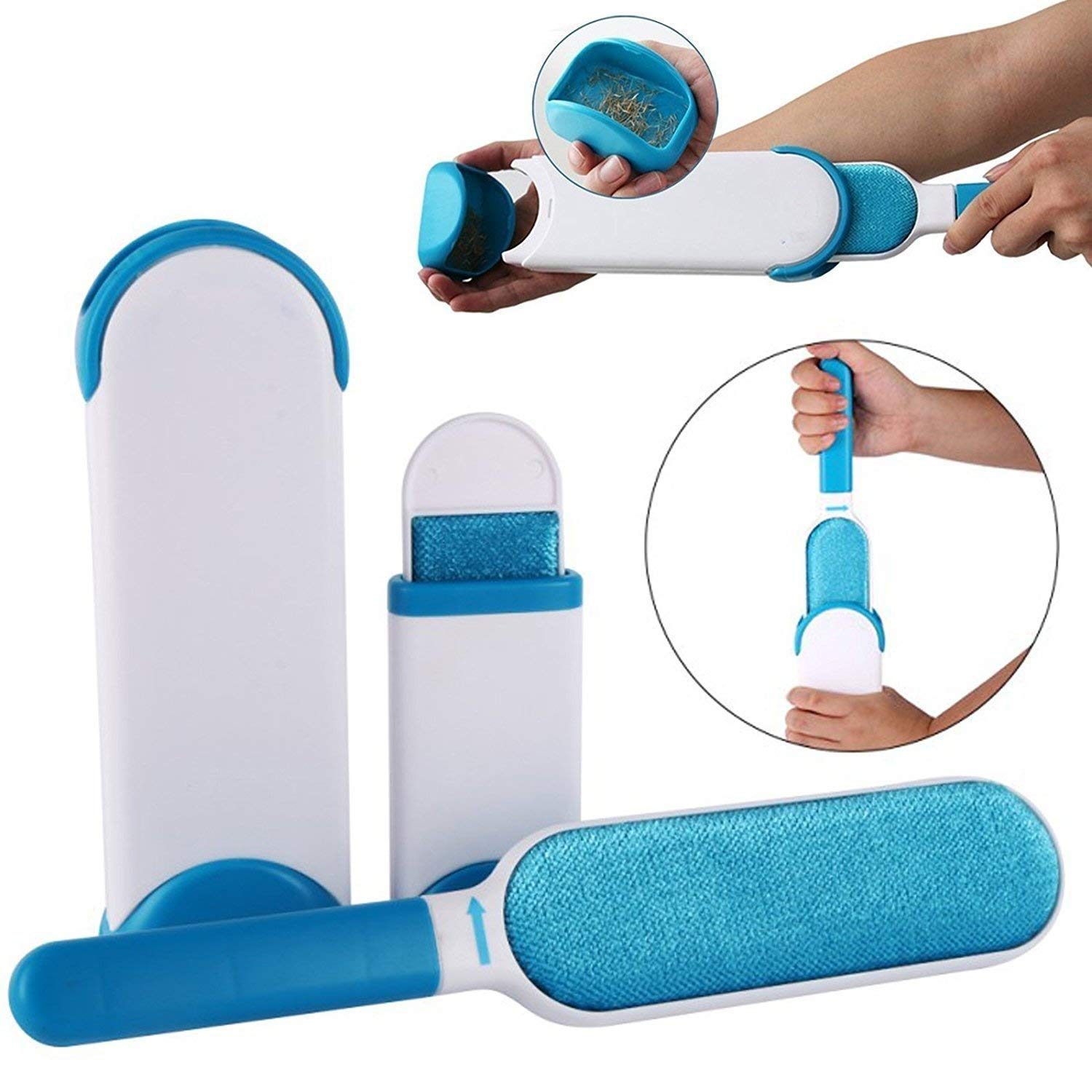 Pet Fur and Lint Remover Pet Hair Remover Multi-Purpose Double Sided  Self-Cleaning and Reusable Pet Fur Remover Magic Clean Clothing| Furniture|  Home Clean Brus - Quantity Wala